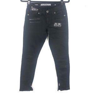 Affliction black skinny jeans N15